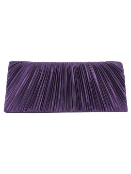 Clutch bag - Pleats satin.