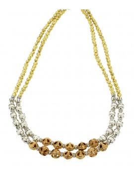 Collier - Deux rangs perles travaillées