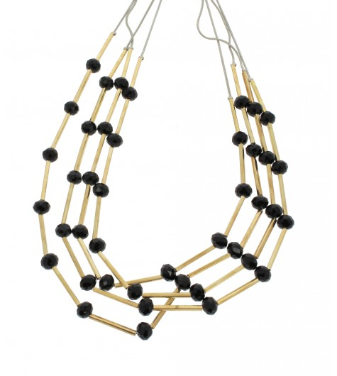 Necklace - Faceted beads and tubes.