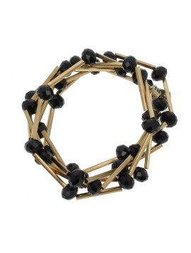 Bracelet - Multi-chains, faceted beads and tubes.