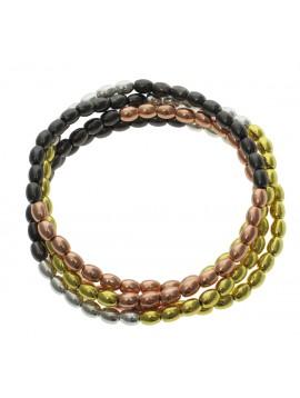 Bracelet - Multi-chains, rice style beads.