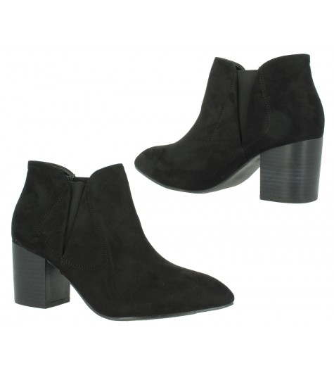 Anckle boots - Faux nubuck, plain colour .
