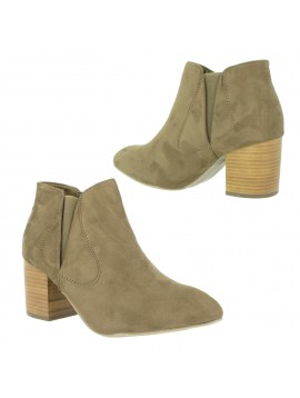 Anckle boots - Faux nubuck, plain colour .