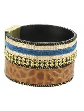Bracelet - Reptile et strass