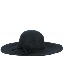 Wide-brimmed hat - Bow.
