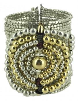 Bracelet ela - Spiral beads decoration.