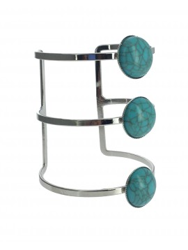 Bracelet - Jonc large avec 3 pierres.