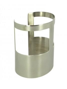 "Stainless Steel Bracelet - Large ""T"" pattern."