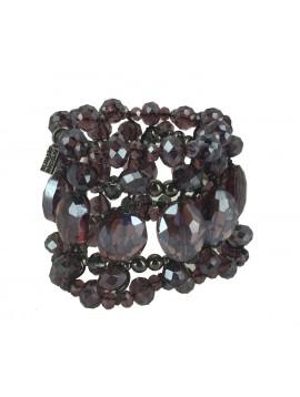 Bracelet - Large tout perles à facettes.