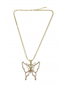 Long Necklace - Butterfly charm.