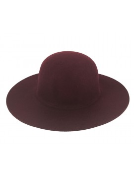 Wide brimmed - Felt like plain color.