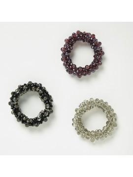 Bracelet - Fin tout perles à facettes.