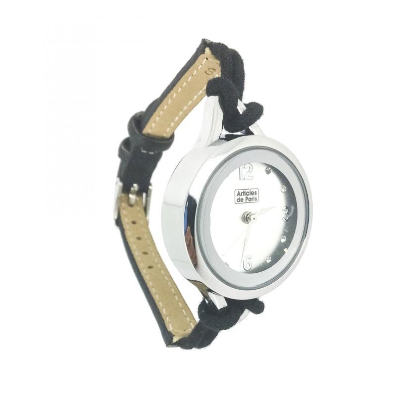 Montre bracelet cordon - Miroir rond avec corde ...