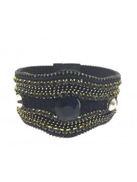 Bracelet - Lignes deiverses avec strass.