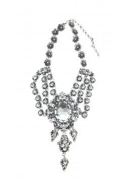 Collier - Style baroque avec perles à facettes.