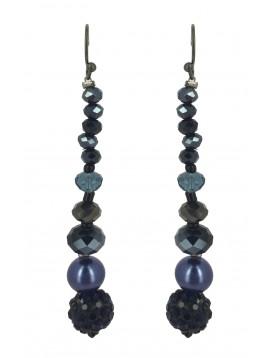 Earrings - Various faceted beads drops.