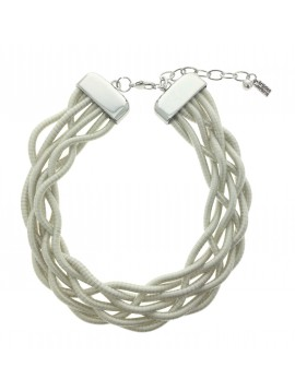 Necklace - Braided laces.