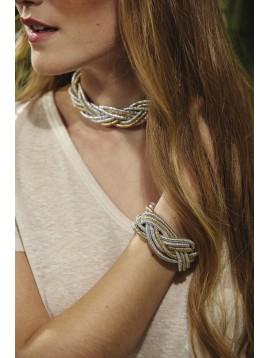 Bracelet - Cordons trésses.
