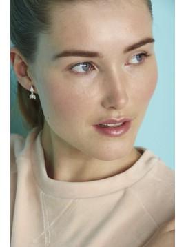 Boucles d'oreilles - Flèche avec strass.