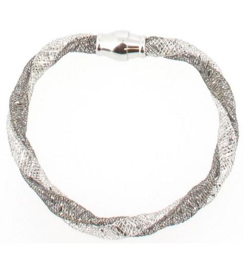 Bracelet Argent - Chaine cage torsade
