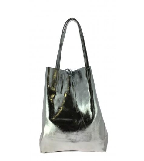 Leather shoulder bag - Plain color full grain style.