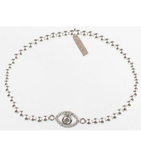Silver bracelet - Eye