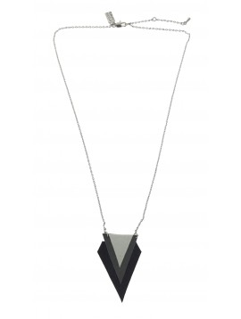 Necklace - Shaded triangles charm.