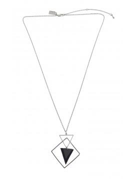 Collier - Formes géométriques avec triangle tissu.