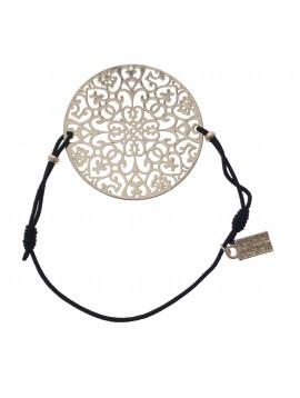 Bracelet - Rosace ronde filligrane.