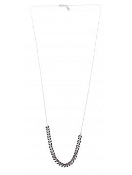 Collier Long - Perles en forme de V émaillées.