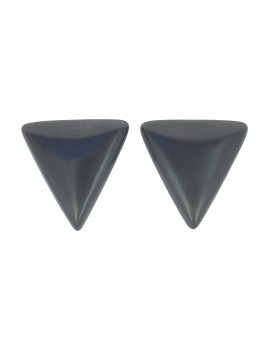 Earrings - Metallic triangle.