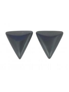 Boucles d'oreilles - Triangle métallique.