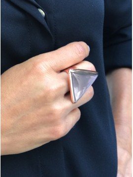 Ring - Metallic triangle.