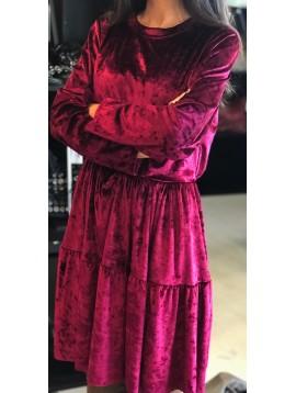 Dress - Plain color vlevet style.
