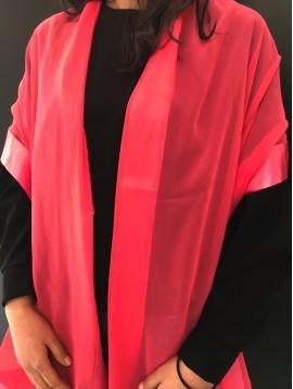 Silk scarf - Plain color with silky edges.
