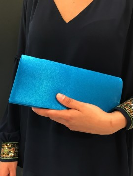 Clutch bag - Plain color satin look.