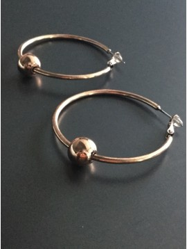 Earrings - Hoops with ball