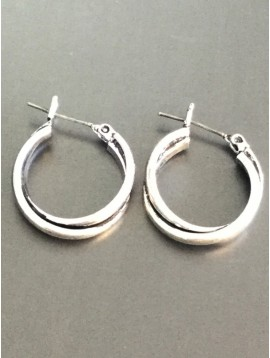 Earrings - Interlaced plain hoops.