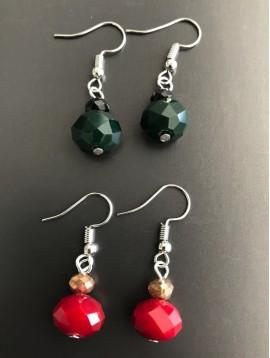 Boucles d'oreilles - Perles à facettes