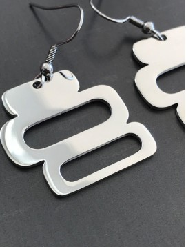 Stainless Steel Earrings - Rectangles.