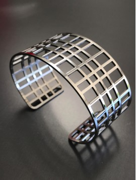 Stainless Steel Bracelet - Chequered.