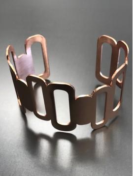 Bracelet Acier - Manchette 3 rectangles.