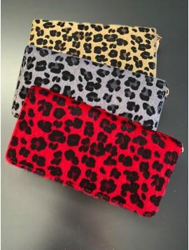 Wallet - Leopard hairy style.
