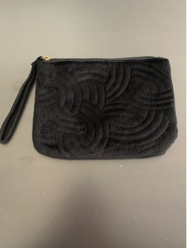 Clutch bag - Plain color velvet style.