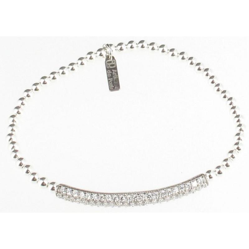 bracelet argent strass