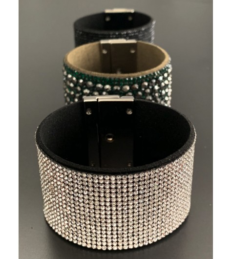 Bracelet - Tout strass avec fermoir rotatif
