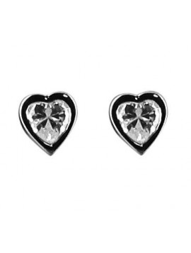 Silver earrings - Corazon