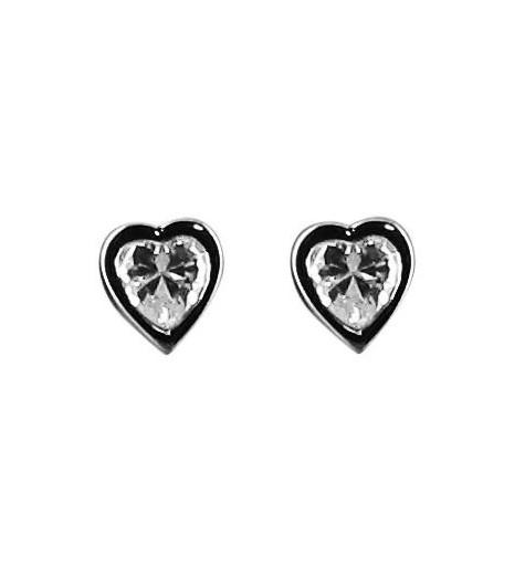 Silver earrings - Corazon