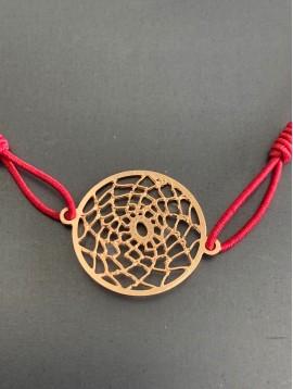 Bracelet éla - Rosace style attrappe rêve filigranne
