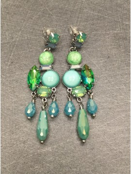 Earrings - Various faceted beads and gemstones.